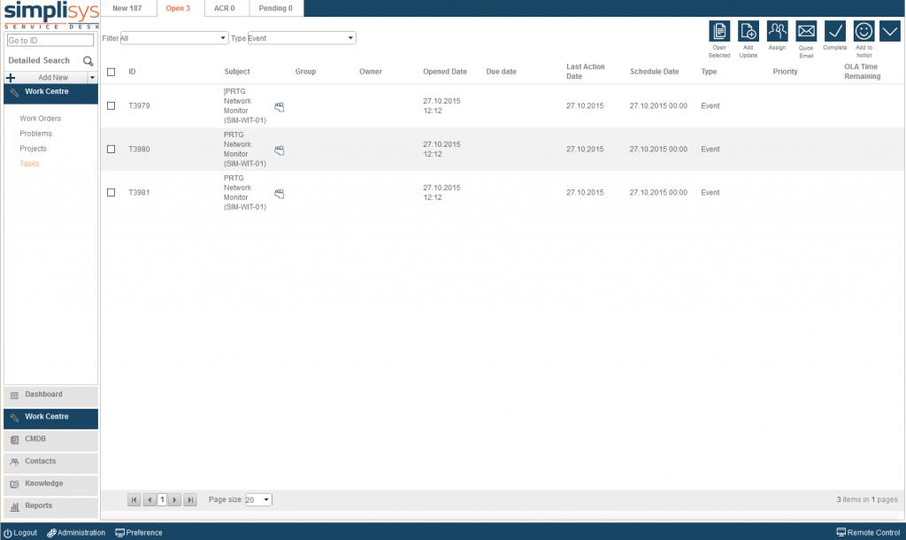 Event listview
