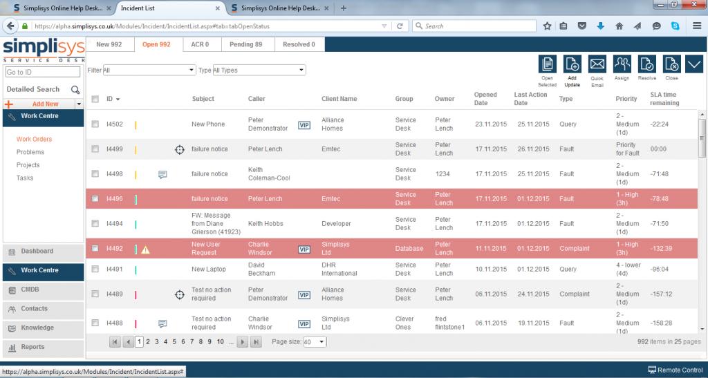 Simplisys Service Desk Software