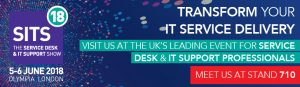 Meet us at SITS18 the Help Desk show on Stand 710
